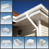White Brown Black Grey PVC plastic rain gutter and accessories