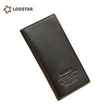 Low Price PU Leather Wallet Men, Durable Men's Long Wallet