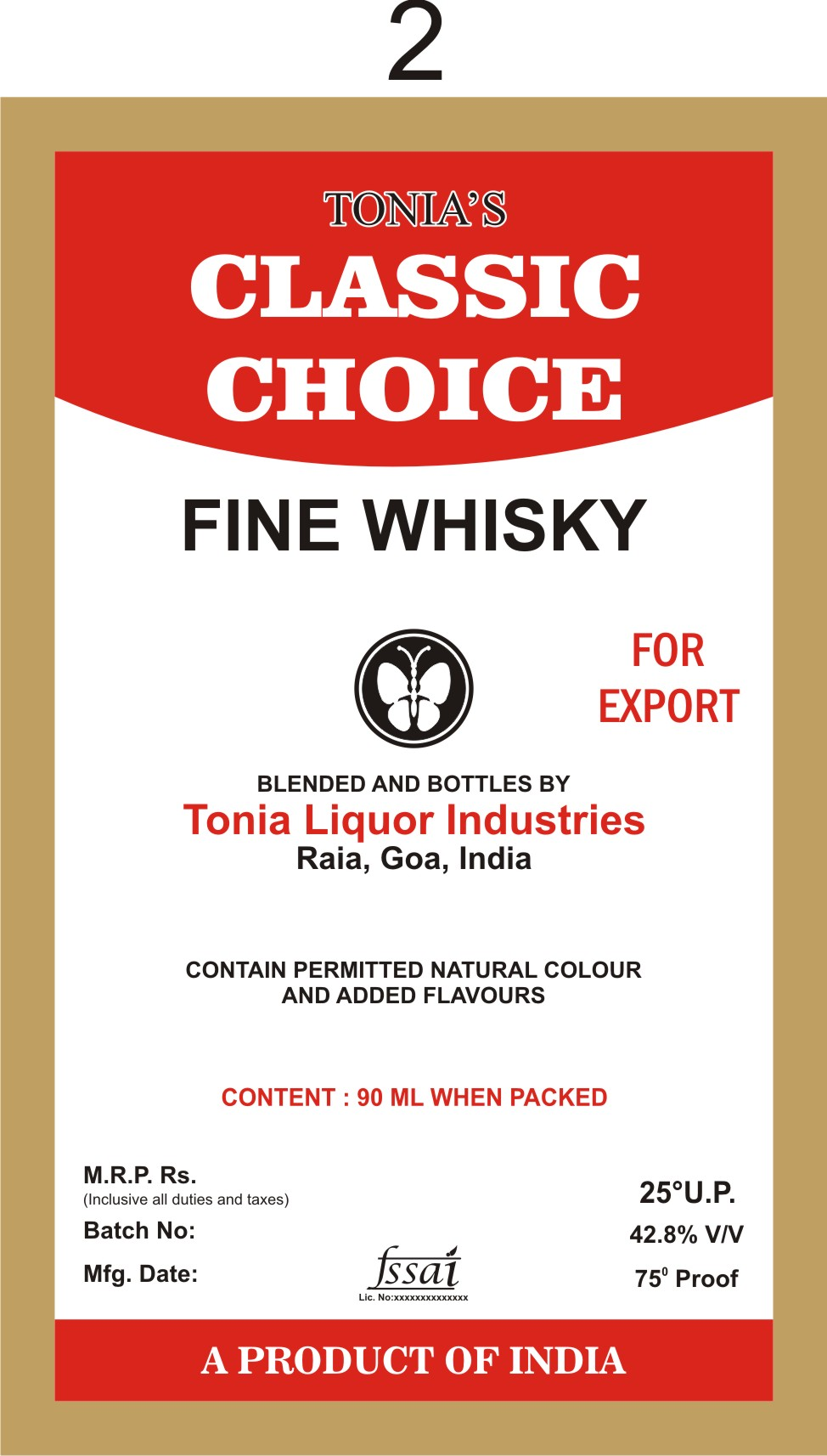 Tonia's Classic Choice Fine Whisky