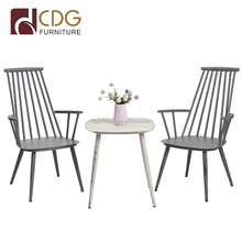 Wholesale vintage industrial metal furniture restaurant dining table chair
