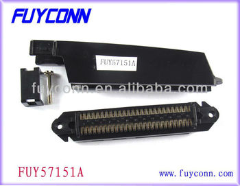 TE 229974 Male Plug centronics Tyco 50 pin black IDC Connector RJ21 Right Angle Header for Tailyn DSLAM