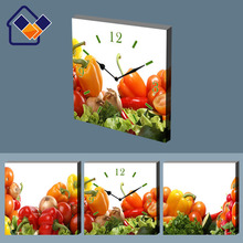 Reloj de pared con marcos de foto, fruite foto de arte reloj de pared decorativos