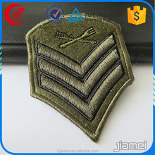 custom military shield embroidery patch work designs for sale