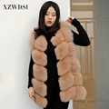 CX-G-B-243C New fashion sleeveless outerwear lady winter real fox fur vest women