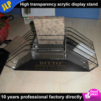 Luxury high quality marble display stand acrylic Decorative stone display rack