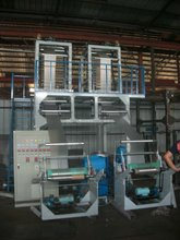 Single Screw two colletiing system, double die extruder PE Double head Film Blowing Machine