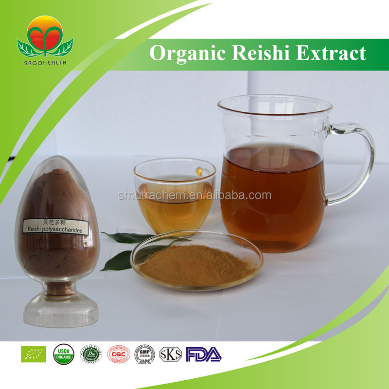Best Selling NOP,EU Organic certificated Reishi Extract(10%-20% Polysaccharides)