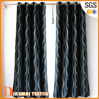 2017 100% polyster ready made hospital wood doors fringe curtains