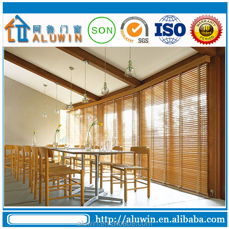 Aluminum Bifold Doors with Blinds Interior Bifold Doors Wood Finished