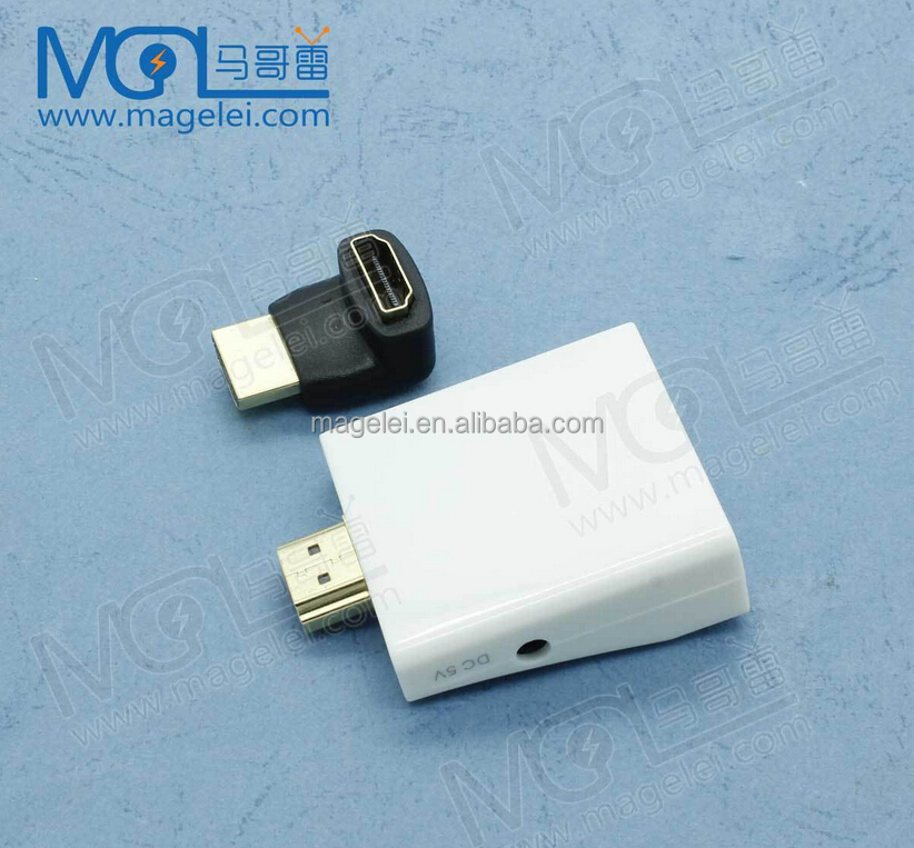 HDMI to VGA adapter Digital to Analog Video Audio Converter Cable hdmi vga connector for Xbox 360 PS4 PC Laptop TV Box