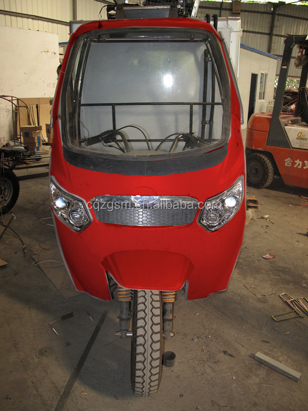refrigerated three wheel motorcycle/motorized tricycle with closed cargo box