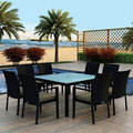 2017 Trade Assurance Most Popular Poolside used aluminium frame rattan dining table and chairs set