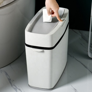 Hot Selling Press Type Plastic Trash Can for Kitchen Bathroom Office