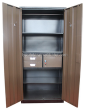 India market 2 door customized metal locker with internal safe box