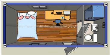 Dormitorio 1 cocina cuarto de ba o de china mobile casas - Precio casa contenedor ...