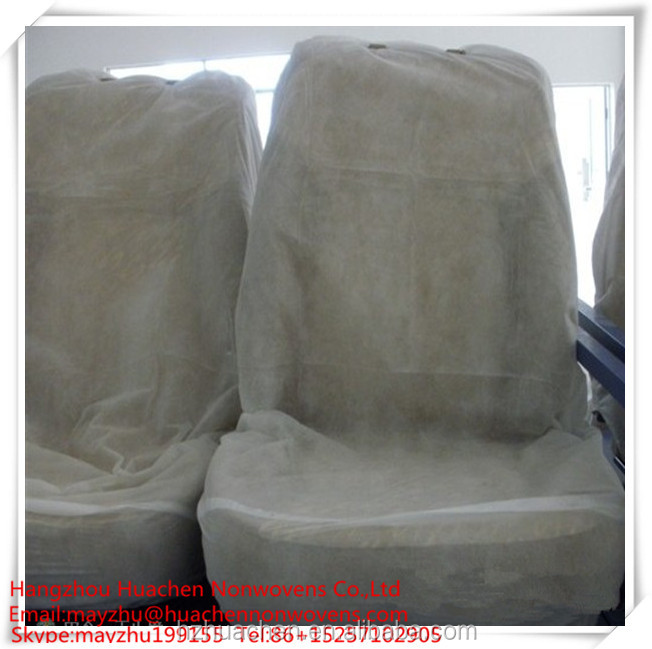 White Non-woven Chair Cover For Cars