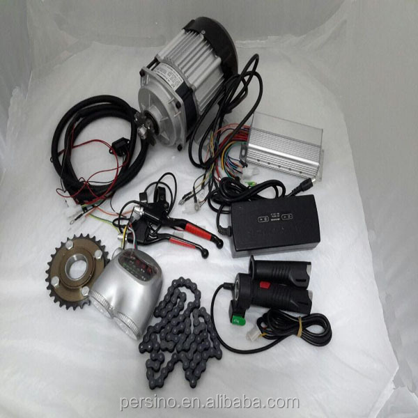 waterproof three phase magnet 500w electric rickshaw kits mtoor +controller+converter+charger+throttle