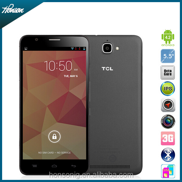 "Original TCL S720 S720T Mobile Phone MTK6592M Octa Core 1.4GHz Android 4.2 5.5"" 1280x720P 1GB RAM 8GB ROM 8MP 3300MAH OTG WCDMA"