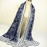 2017 Fashion Female neckwear viscose stole scarves scarf viscose fabric for wholesaler