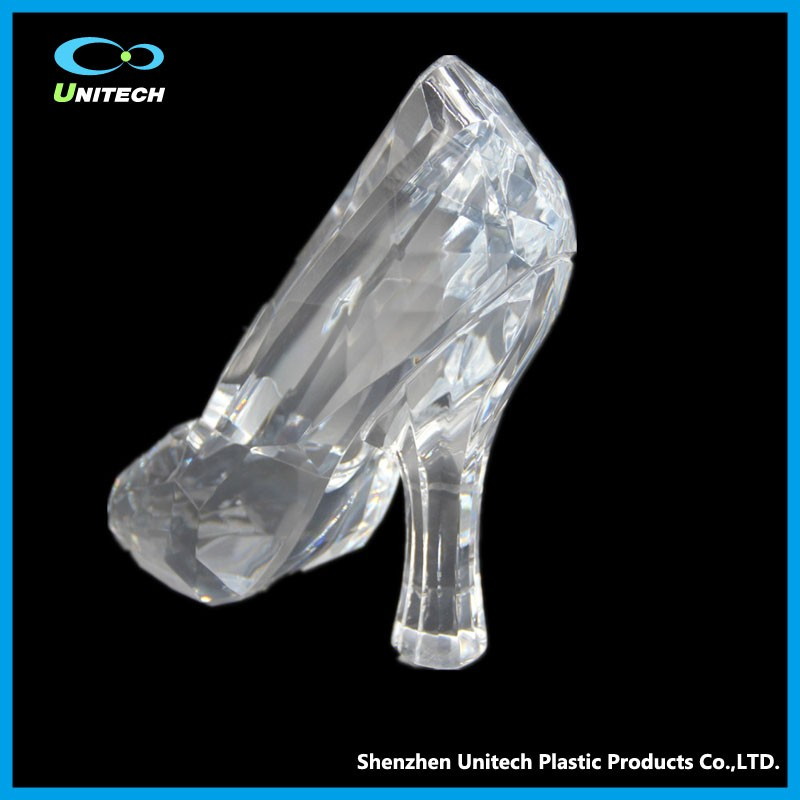 Chinese Manufacture OEM acrylic high heel shoes crafts