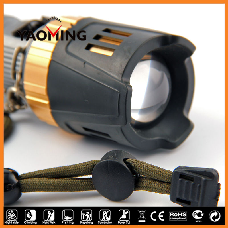 Best long distance high lumen glare YM-7005 6000 lumen led flashlight for tactical