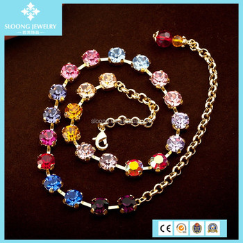 Fashion Valentine's Day Gift Crystal Necklace Designs