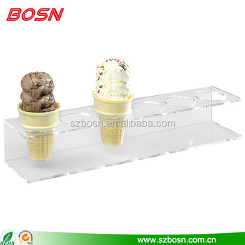 Counter top 6 slot acrylic ice cream kiosk design display freezer for sale