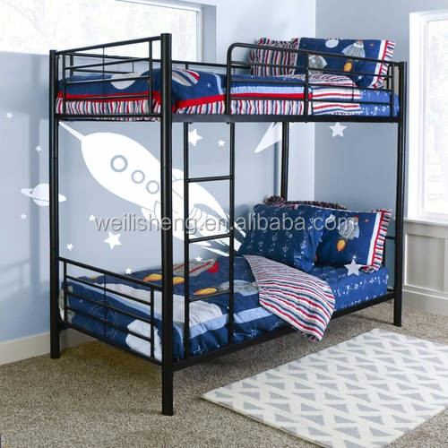 Colorful designer designs simple stainless steel bedroom double bunk bed for students