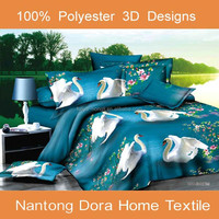 high quality polyester flower design bed sheet multipurpose baby product 3D printing bedding set