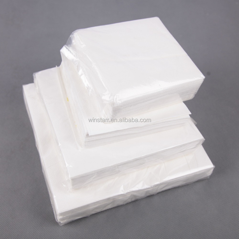 23X23cm/1/4 folded white Paper Berverage Tissue,recycle berverage napkin table napkin