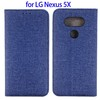 Jeans Style Magnetic Flip Leather Case for LG NEXUS 5X Case, for LG NEXUS 5X Mobile Phone Flip Case Cover