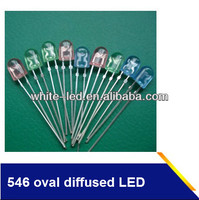 5mm Oval LED diffused red green blue