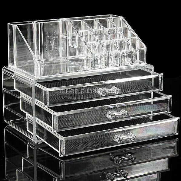 Good quality and reasonal price acrylic cosmetic organizer