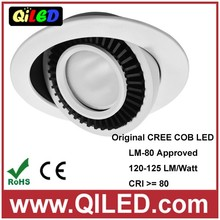 330 degree rotary cob led downlight 2 inch 3W energy saving round led down light aluminum 240lm cob led ceiling lights