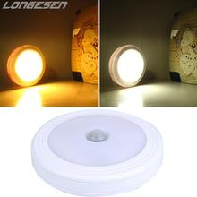 6LED Wireless PIR Auto Motion Sensor Light Intelligent Portable infrared Induction Lamp Night Lights for Cabinet