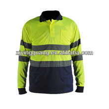 2013 Hi-vis Mens Safety Long Sleeve Polo Shirt