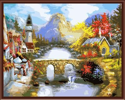 diy coloring by numbers The best oil painting factory in China GX6282