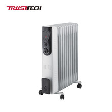 Portable Compact Oil Filled Electric Radiant Space Heater With Thermostat