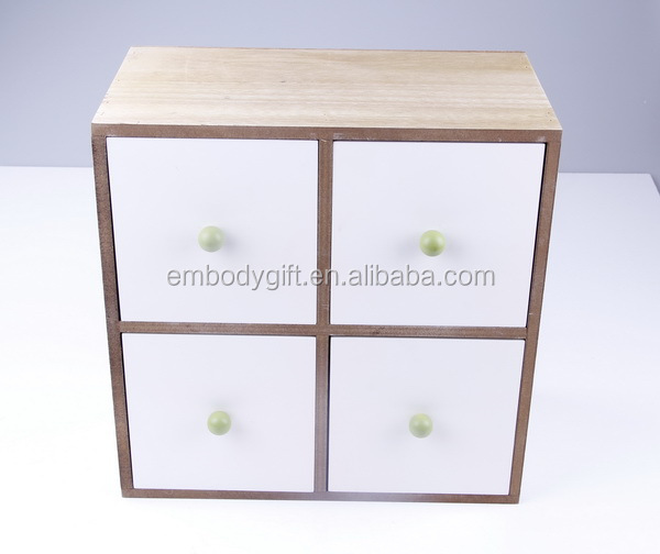 white and practical wooden MDF jewelry box