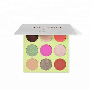 Sincere Cosmetics make your own brand 9 colors glitter eyeshadow palette