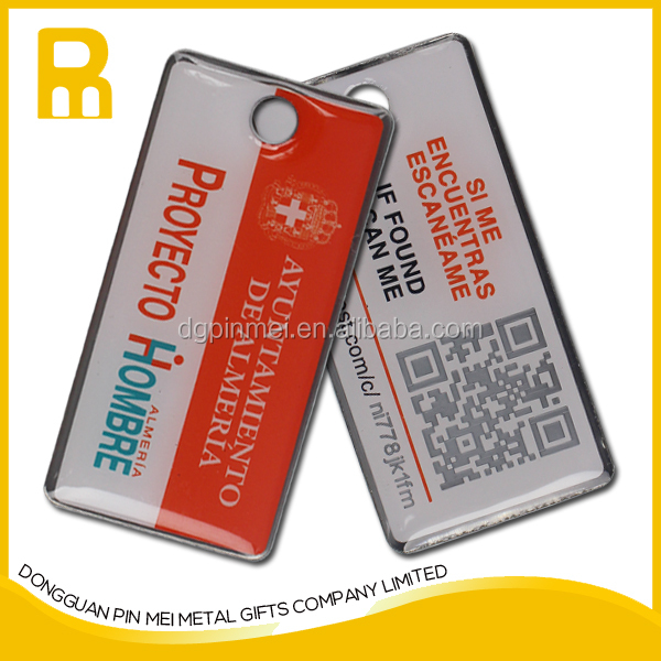 Custom manufacture promotional metal shape key chain