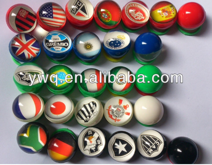 colorful handle jumping LED bouncing rubber ball
