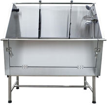 stainless steel pet grooming bath tub for dogs h-105