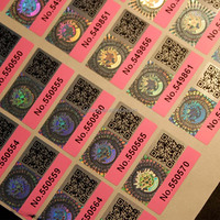 Serial number hologram sticker holographic sticker 3D hologram sticker