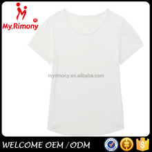 O-neck white china factory stock lot t-shirt women