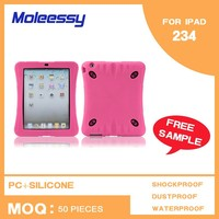 Durable tablet pc case hot pink keyboard case for ipad