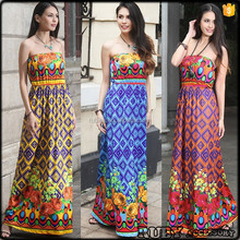 D0089 Summer New Style Printed Ladies Smart Casual Womens Clothing Tall Tube Women Sexy Dress
