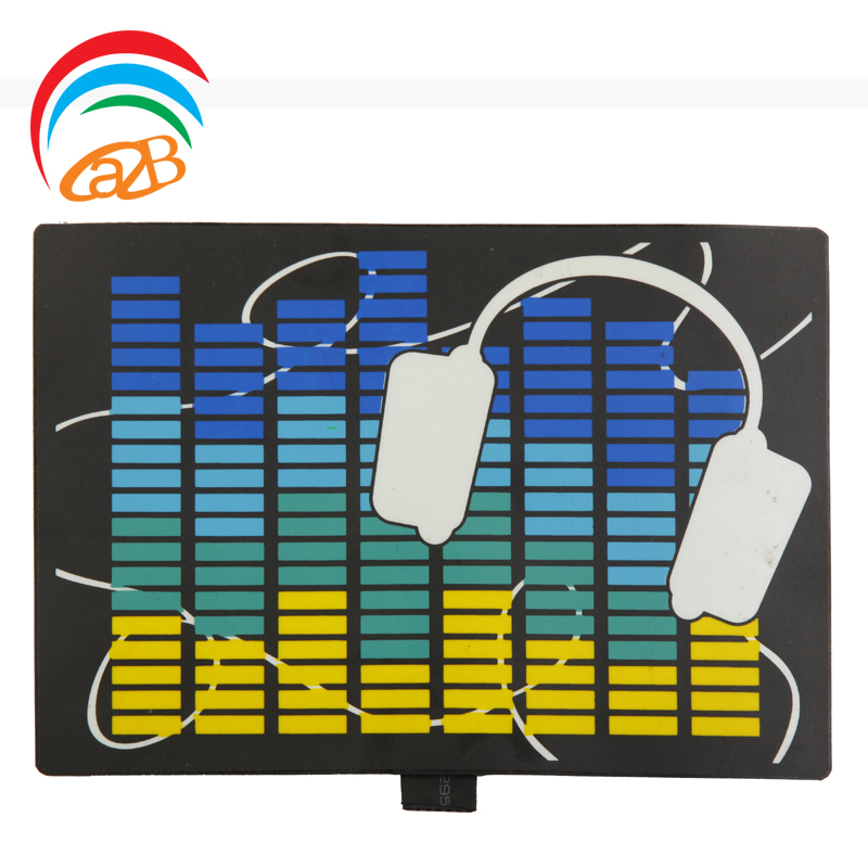 DIY custom sound activated el panel/ flashing led panel/el t-shirt panel