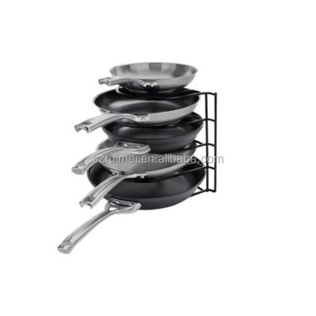 5 Tiers Metal Cookware Pan Pot Storage Holder stand