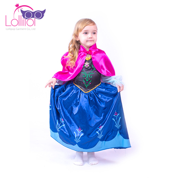 Tea party dress up blue dress cosplay carnival costume anna custom made cosplay costume